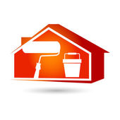 Painting houses — Stock Vector