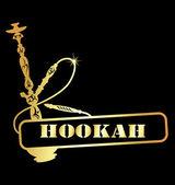 Gold hookah — Stock Vector