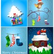 Set of Christmas illustrations — Stock Photo