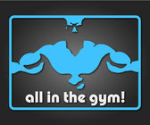 All in the gym — Stock Vector