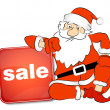 Stock Vector: Christmas sale