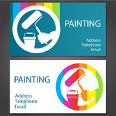 Business card for painting — Stock Vector