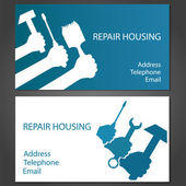 Business card for home repair — Stock Vector