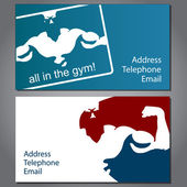 Business card for gym — Vector de stock
