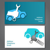 Business card for auto repair — Stock Vector