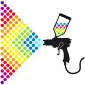Paint spray gun — Stock Vector