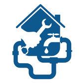 Plumbing repair business — Stock Vector