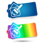 Painting of houses — Stock Vector