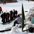 Group of toddlers at ski lesson — стоковое фото #20004709
