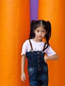 Little Asian girl posing. — Stock Photo