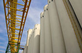 Agricultural Silo, Industrial Building Exterior — Stock Photo