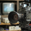 Professional camera on television — Stock Photo