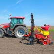 Stock Photo: Agricultural machinery, sowing