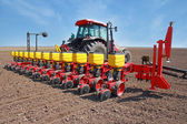 Agricultural machinery, sowing — Stock Photo