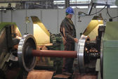 Worker in metal processing industry — Stock Photo