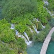 Waterfall and Lake, Plitvice Croatia — Stock Photo