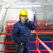 Industrial worker talking on cell phone — Stock Photo #39696761