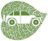 Concept of the eco-car — Stock Vector