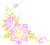 Flores - elemento decorativo — Vetor de Stock