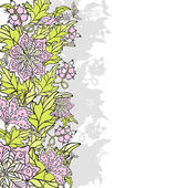 Frontera floral abstracto — Vector de stock