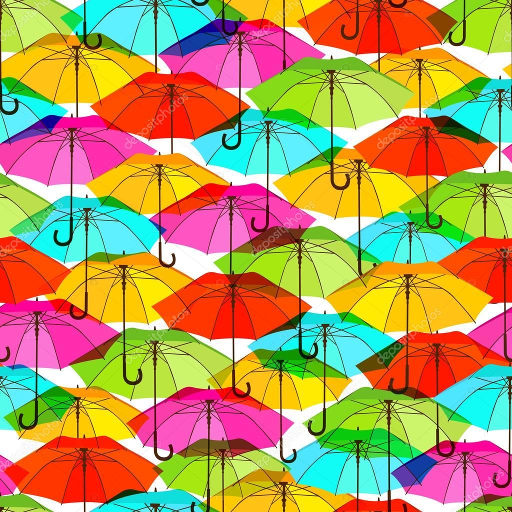 Patrones sin fisuras con sombrillas colores brillantes for Precio de sombrillas