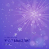 Abstract purple winter background — Stock Vector