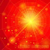 Red abstract background with flare. — Stock Vector