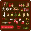 Stock Vector: Set of Christmas graphic elements