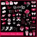 Valentines design elements — Stock Vector #36957017
