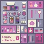 Set of cosmetics icons — Stock Vector