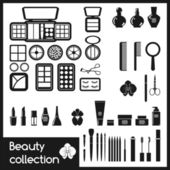 Set of cosmetics icons. — Vettoriale Stock
