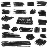 Set of vector marker stains — Stock Vector
