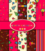 Set of ten happy birthday patterns — Stock Vector