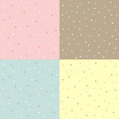 Seamless tenderness polka dot background — Stockvector