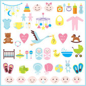 Baby shower set — Stock Vector