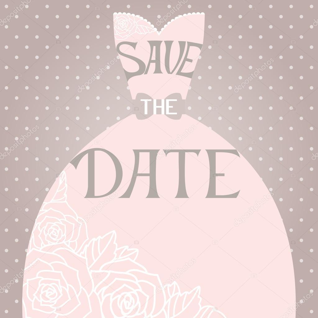Приглашение на свадьбу с платьем