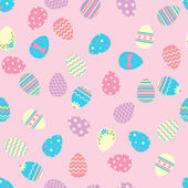 Seamless easter pattern with eggs. — Stock Vector