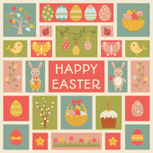 Holiday card with Easter element. — Stock Vector
