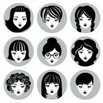 Vector set of stylish girls in modern flat design — Stock Vector #44368855
