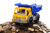 Truck with coins — Photo