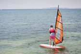 School of Windsurf — Stock Photo