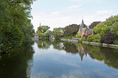The Minnewater, Brugges — Stock Photo