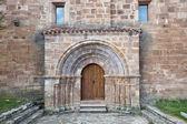 πόρτα του σαν millan εκκλησία ντε λάρα — Φωτογραφία Αρχείου