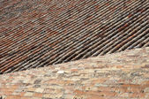 Traditional tiled roof — Stock Photo