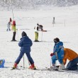 Children learning to ski - Stock Photo