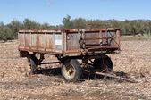 Old farm trailer — Stock Photo