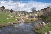 Vista generale del fiume manzanares — Foto Stock