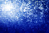 Blue defocused lights. Winter background — Stock Photo