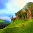 Fairy mountains landscape as old photograph — Stock Photo #28569635
