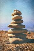Pyramid of stones — Stock Photo